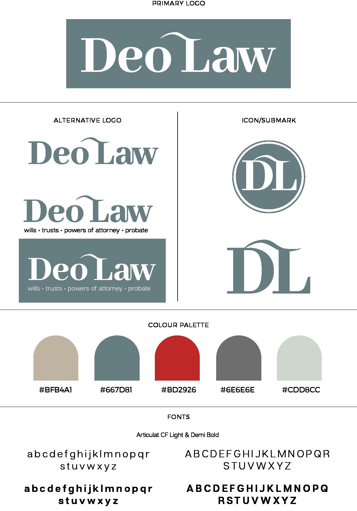 Deo Law Brand Board
