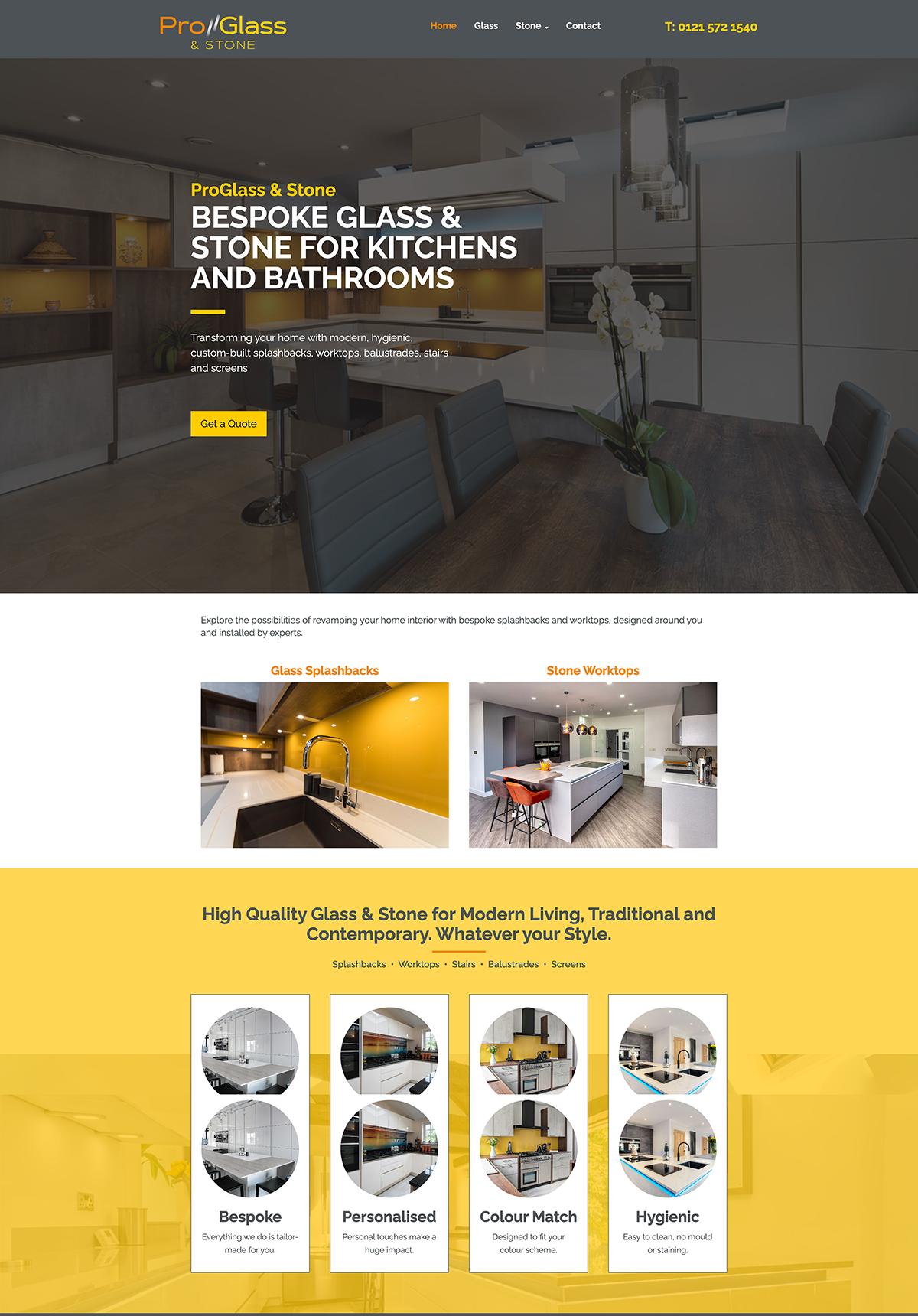 ProGlass & Stone Website