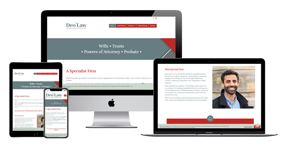 Deo Law Multi Device Website