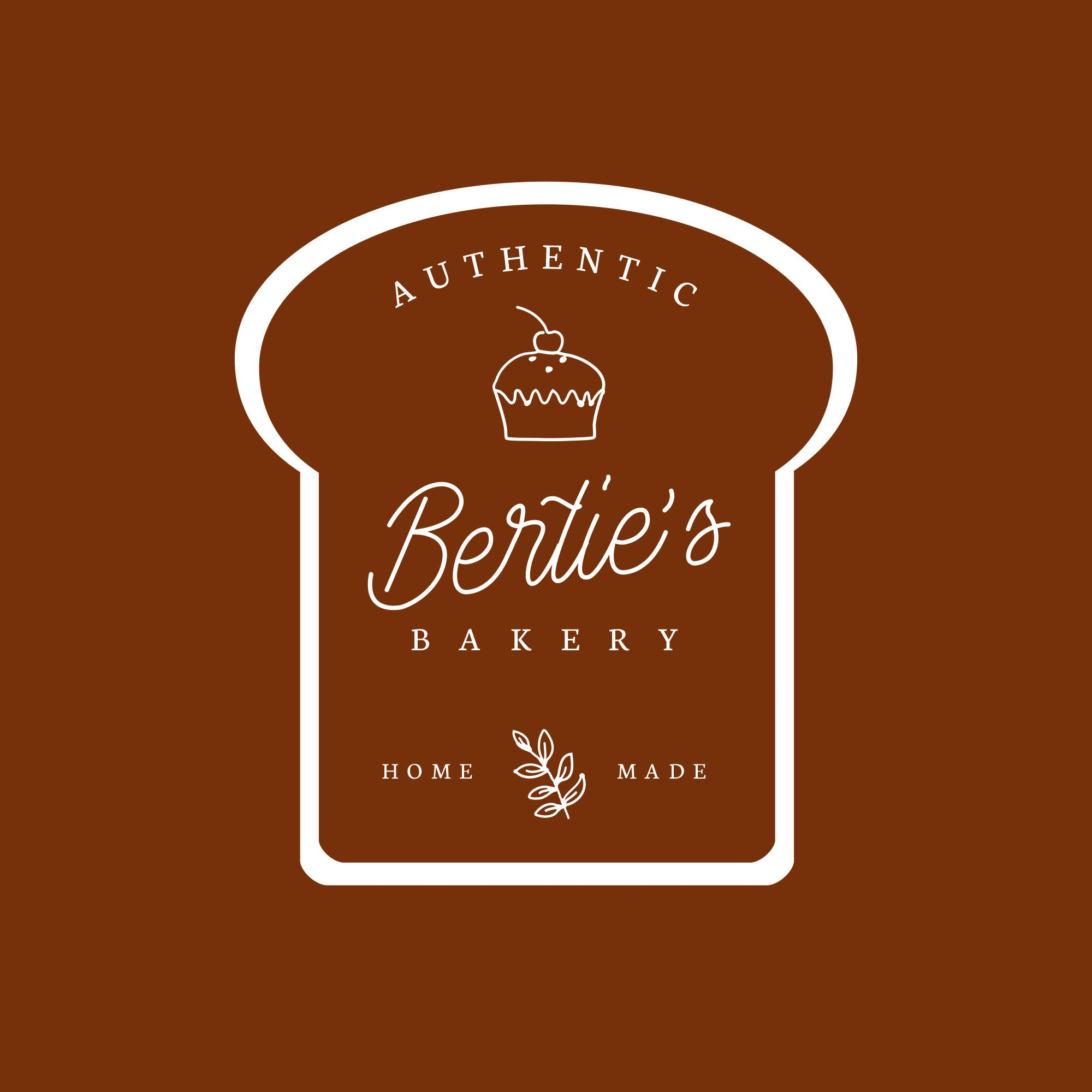Bertie's Bakery Premade Logo
