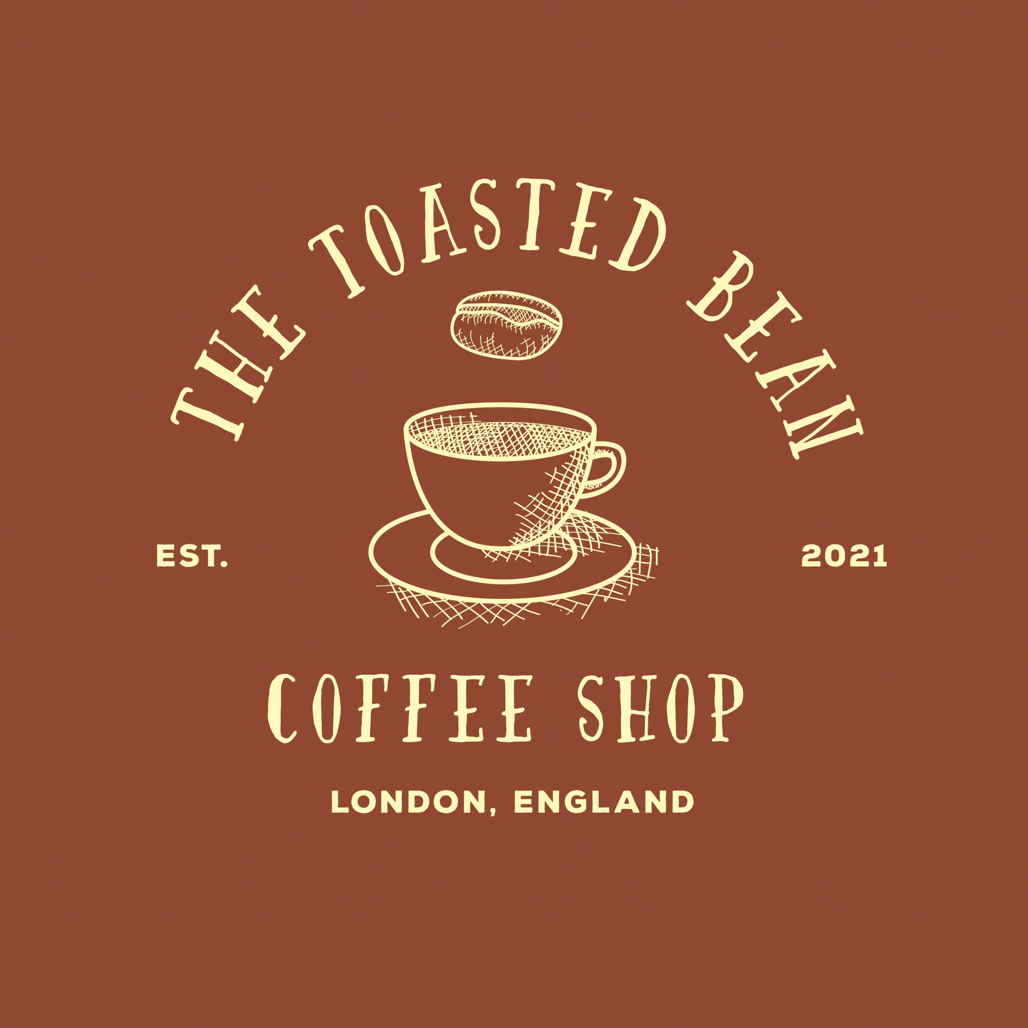 The Toasted Bean Premade Logo